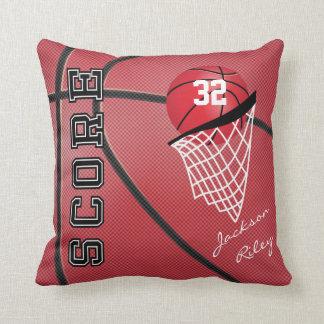 Cojín Decorativo Nombre rojo del baloncesto el   DIY del deporte