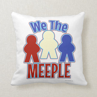 Cojín Decorativo Nosotros el estilo del videojugador de Meeple