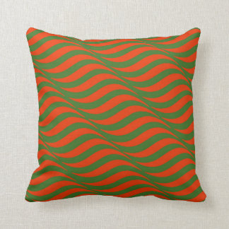 Cojín Decorativo Ondas rojas y verdes