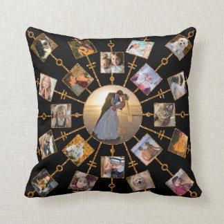 Cojín Decorativo Oro negro bonito de las imágenes del collage 42 de