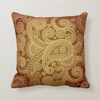 Cojín Decorativo Oro Paisley