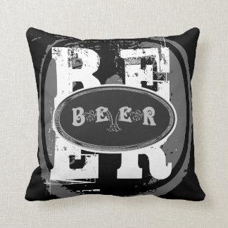 Cojín Decorativo Óvalo Cerveza-Negro y blanco