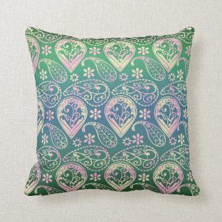 Cojín Decorativo Paisley coloreada multi
