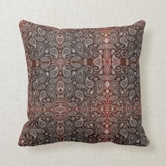 Cojín Decorativo Paisley rojo oscuro