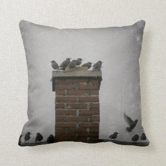 Cojín Decorativo Pájaros de la chimenea
