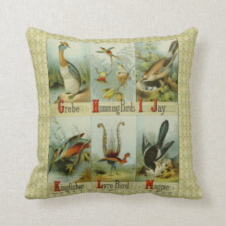 Vintage alphabet birds: G-M, Grebe to Magpie,