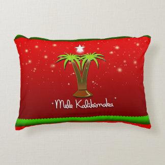 Cojín Decorativo Palmera de Mele Kalikimaka para Navidad