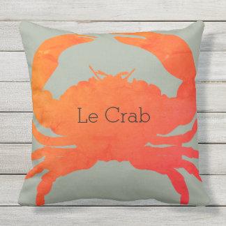 Cojín Decorativo Paprika y alga marina del cangrejo de