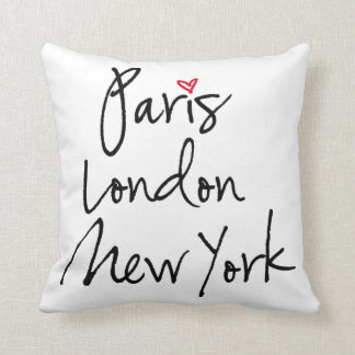 Cojín Decorativo París, Londres, Nueva York