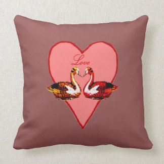 Cojín Decorativo Patos de mandarín en amor