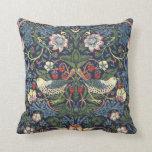 Cojín Decorativo Patrón del ladrón de fresas William Morris