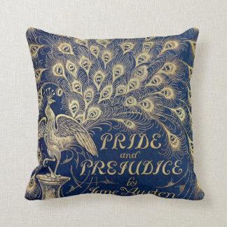 Cojín Decorativo Pavo real 1894 del orgullo y del perjuicio de Jane