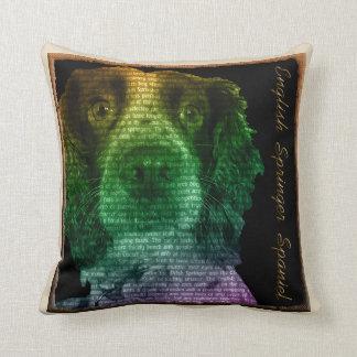 Cojín Decorativo Perro de aguas de saltador Wordart Cusion