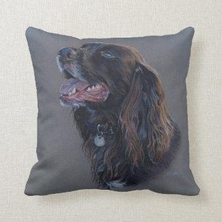 Cojín Decorativo Perro de Engish cocker spaniel. Pintura de la
