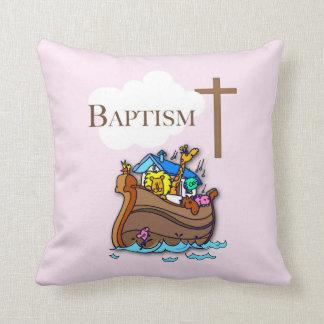 Cojín Decorativo Personalizable, la arca de Noah del bautismo de la