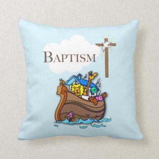 Cojín Decorativo Personalizable, la arca de Noah del bautismo del