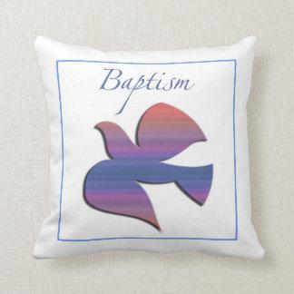 Cojín Decorativo Personalizable, paloma adulta del bautismo