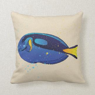 Cojín Decorativo Pescados azules de Tang del acuario tropical
