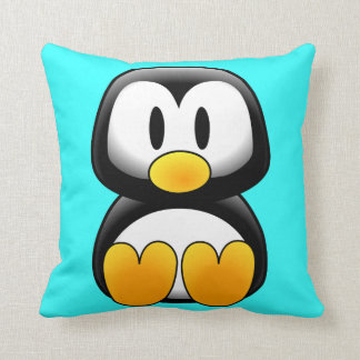 Cojín Decorativo Pingüino lindo del dibujo animado del bebé