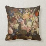 Cojín Decorativo Pintura color de rosa floral del Victorian del