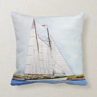 Cojín Decorativo pintura de la acuarela del velero