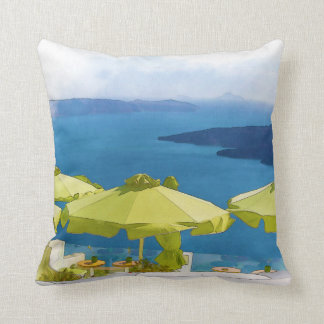 Cojín Decorativo Pintura de Santorini Grecia