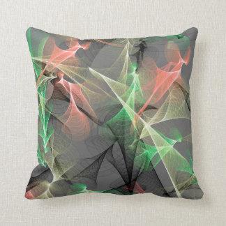 Cojín Decorativo Plasma - melocotón - negro gris esmeralda