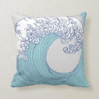 Cojín Decorativo Playa asiática japonesa del océano de la impresión