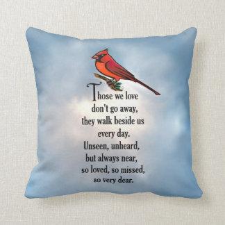 """Cojín Decorativo Poema """"tan amado"""" del cardenal"""