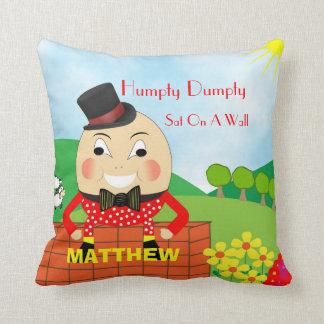 Cojín Decorativo Poesía infantil linda Humpty Dumpty de los niños