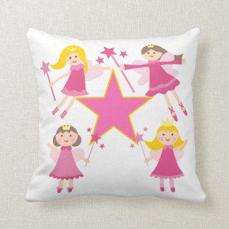 Cojín Decorativo Princesas de hadas rosadas Pillow