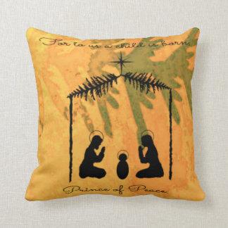 Cojín Decorativo Príncipe de la natividad de la paz