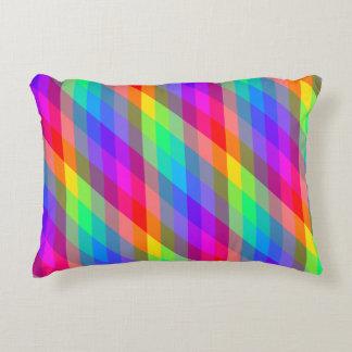 Cojín Decorativo Prismas espectrales del arco iris colorido