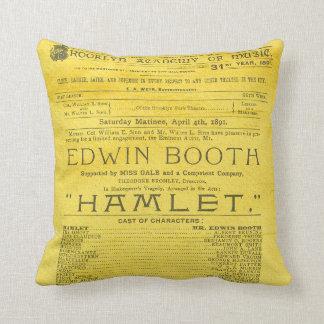 Cojín Decorativo Programa de Hamlet de la cabina de Edwin