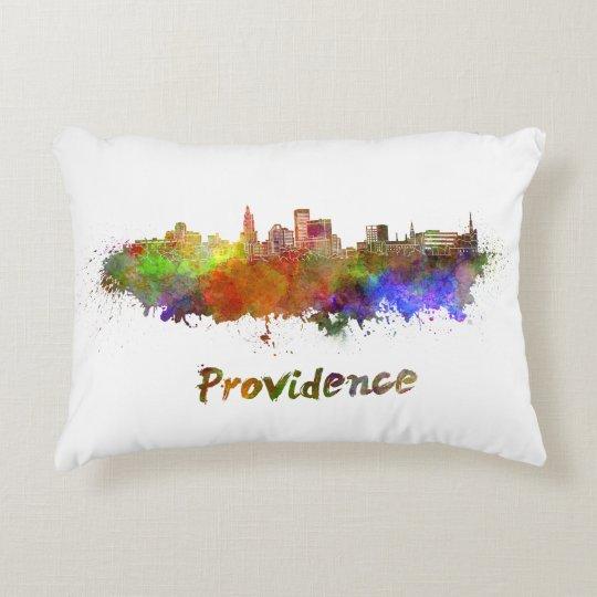 Cojín Decorativo Providence skyline in watercolor