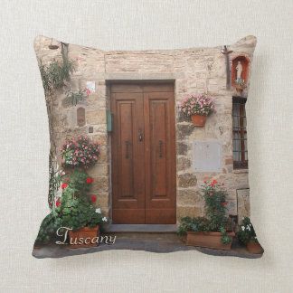 Cojín Decorativo Puerta de madera Toscana Italia personalizada
