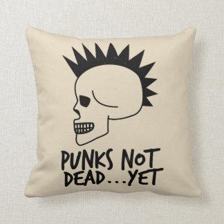 Cojín Decorativo Punks no absolutamente… con todo blanco del cráneo