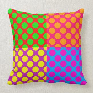 Cojín Decorativo Puntos coloridos enrrollados/brillantes del estilo