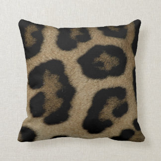Cojín Decorativo Puntos salvajes del leopardo del gato