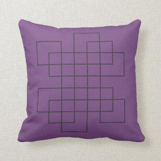 Cojín Decorativo Púrpura del laberinto