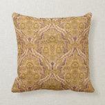 Cojín Decorativo Púrpura y damasco floral del Victorian del oro