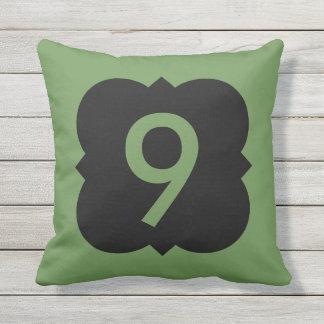 Cojín Decorativo Quatrefoil: Número 9