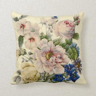 Cojín Decorativo Ramo botánico del vintage de flores mezcladas
