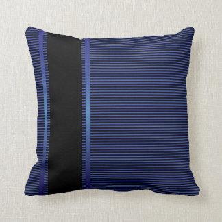 Cojín Decorativo Rayas azul marino y negras del Pin