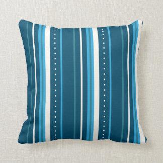 Cojín Decorativo Rayas azules y blancas