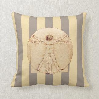 Cojín Decorativo Rayas del hombre de da Vinci Vitruvian