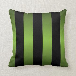 Cojín Decorativo Rayas del negro y de la verde lima