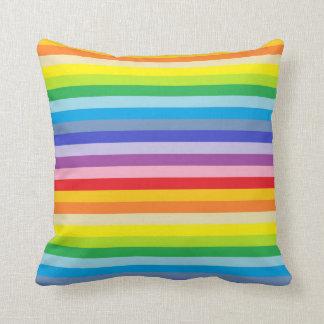 Cojín Decorativo Rayas más amplias de un arco iris del espectro