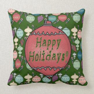 Cojín Decorativo Recarga retra del navidad - pasteles en verde de