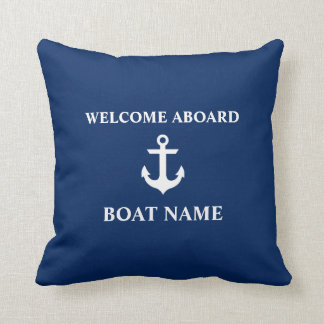 Cojín Decorativo Recepción náutica del azul a bordo de azules